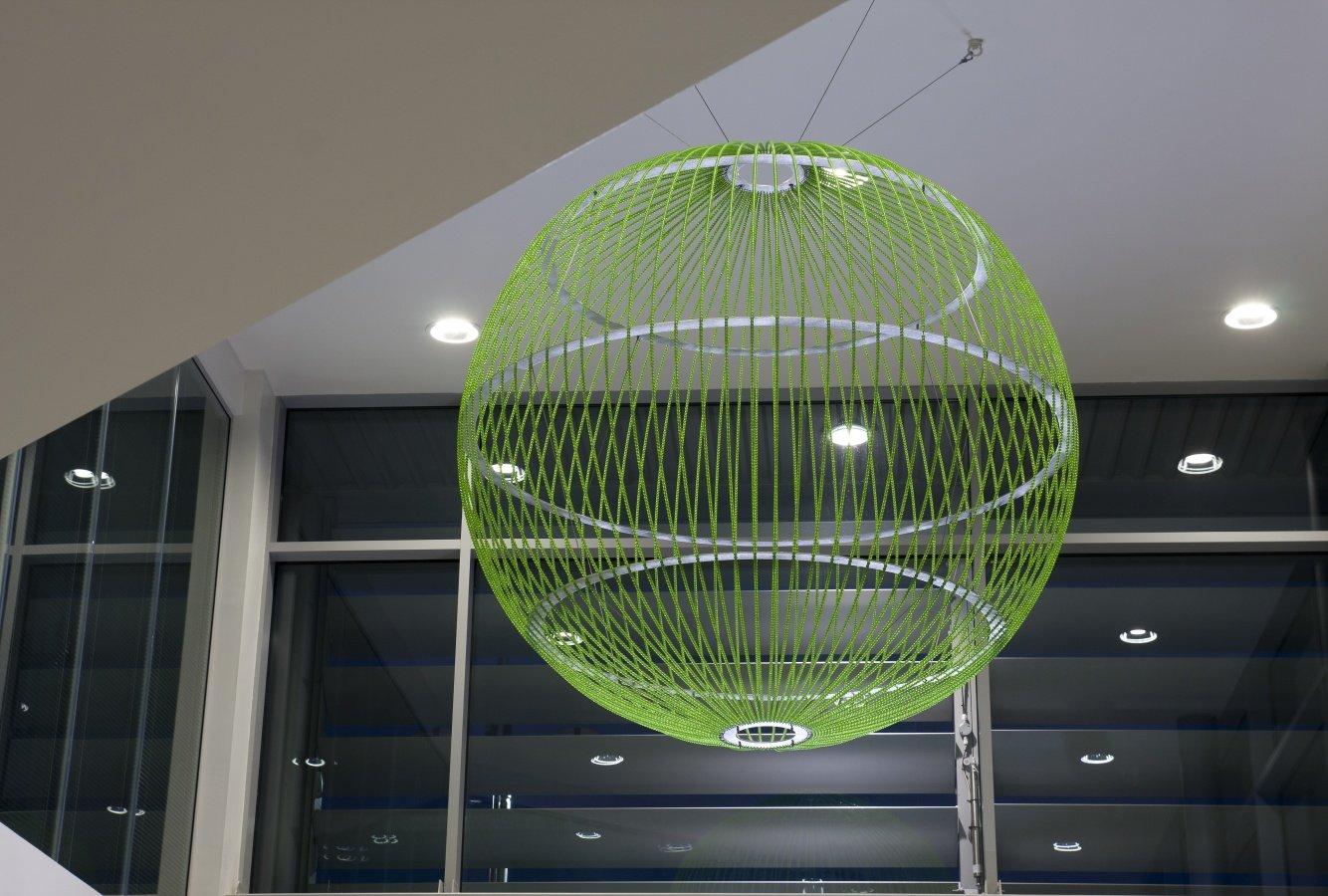 George Singer Modern Chandeliers And Lighting Installations Green Globe Photo 1 Www Georgesinger Co Uk